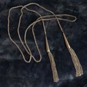 Kendra Scott Lariat Silver Necklace
